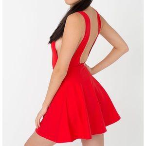 American Apparel Ponte Red Skater Dress.